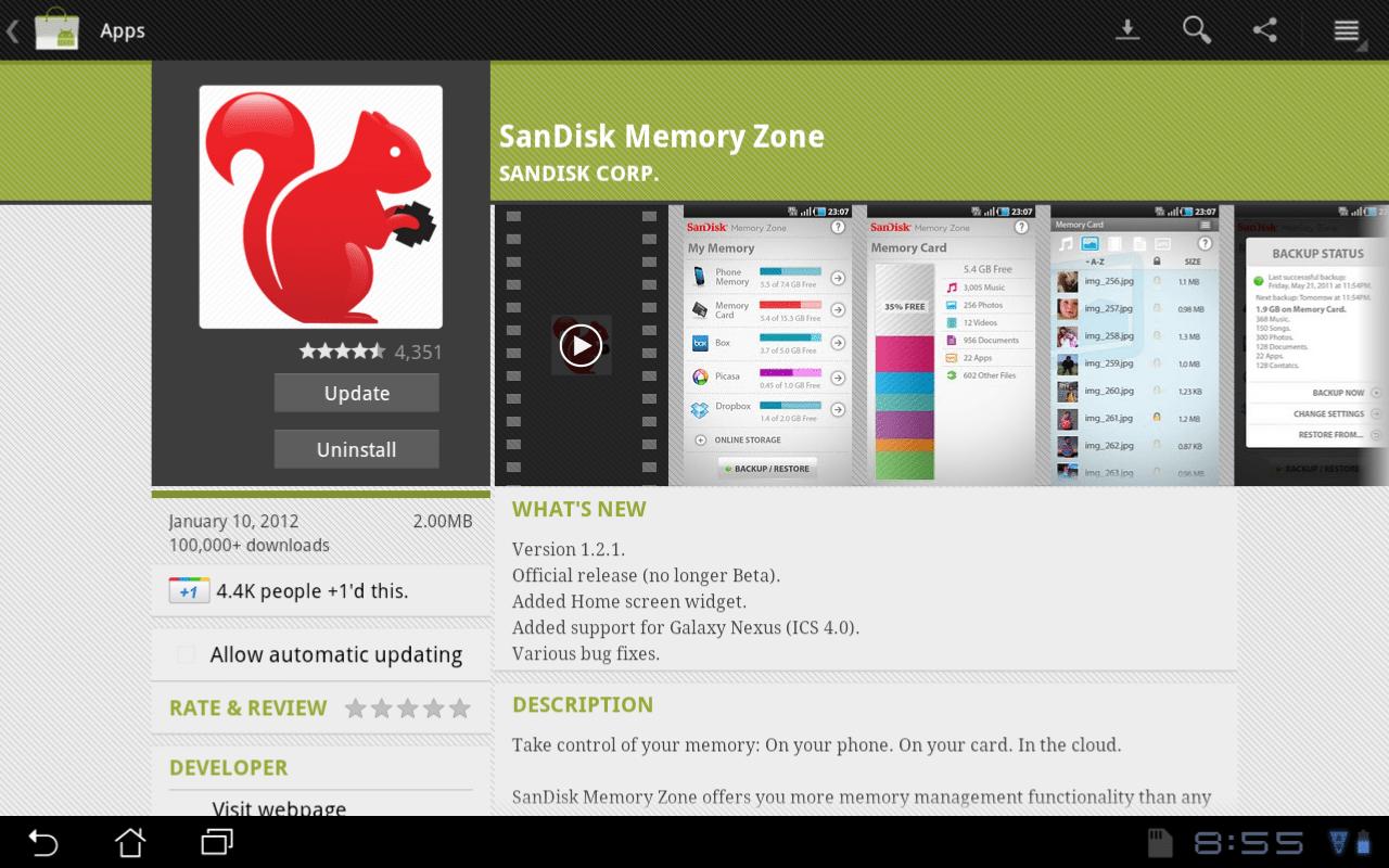 SanDisk Memory Zone App