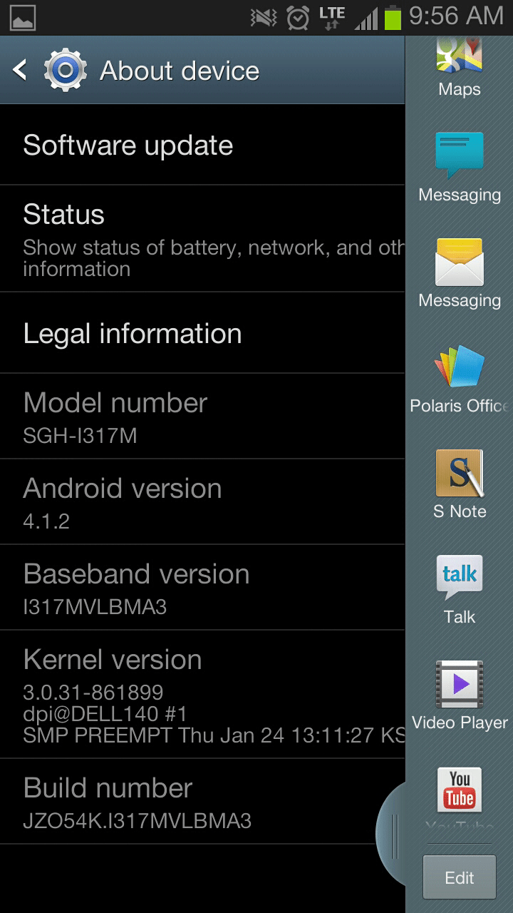 Note II Update