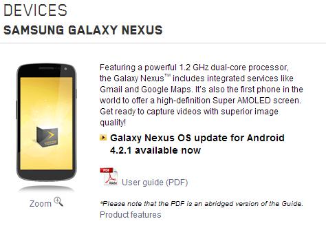 Videotron Galaxy Nexus Update