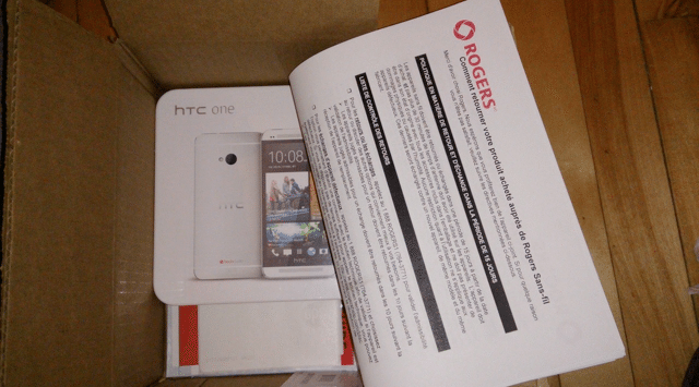 Rogers HTC One Arrival