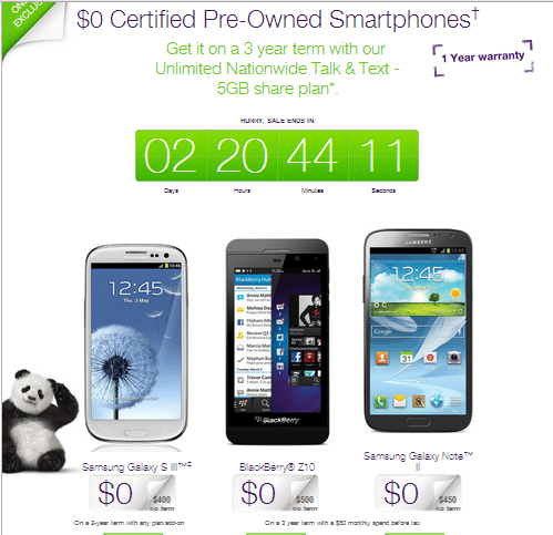 Telus 3 Day Sale