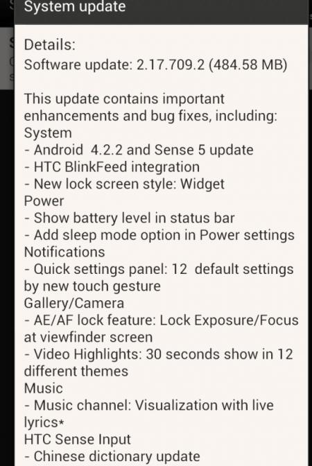 HTC One X  Update - 2