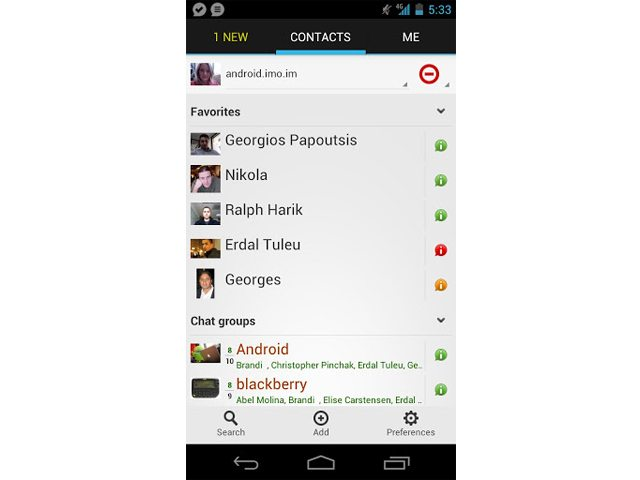 imo im Messaging App Updated With Free Video Calls - - Android in