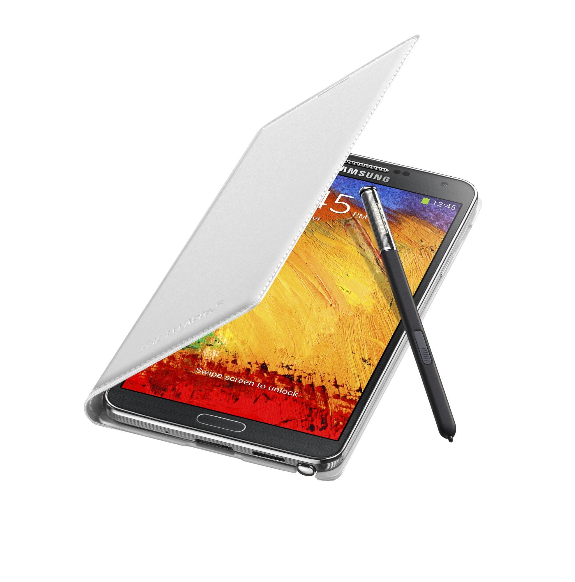 Galaxy-Note3-FlipCover_004_Open-Pen_Classic-White