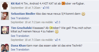 German Kit Kat Page Says Android 4.4 KitKat Coming In ...