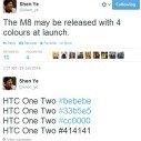 HTC M8 Colours