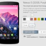 Nexus 5 Purple
