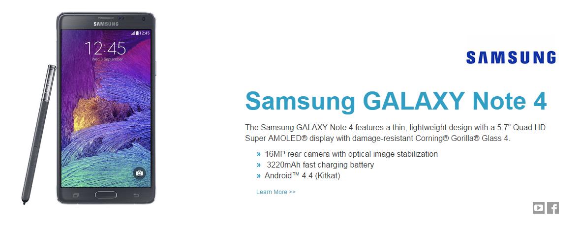 Samsung Note 4 Gorilla Glass 4