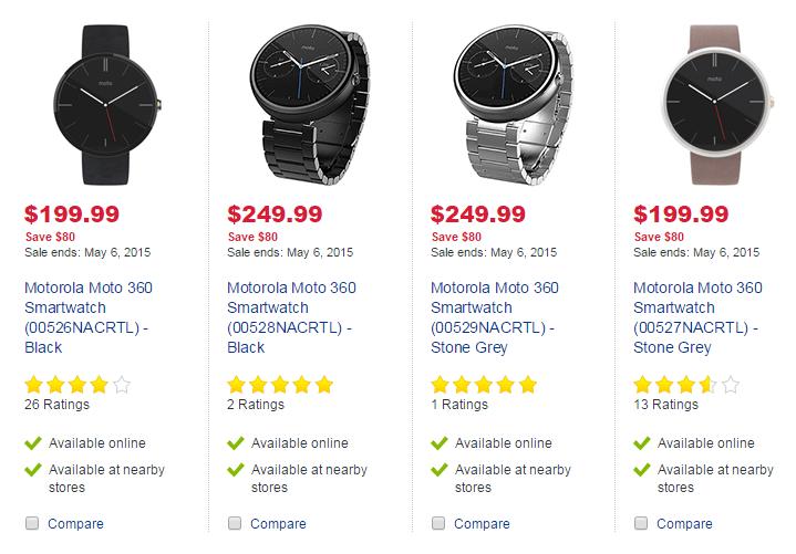 Moto 360 Sale
