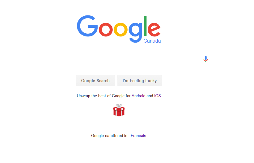 google promoting their apps on their home page android in canada
